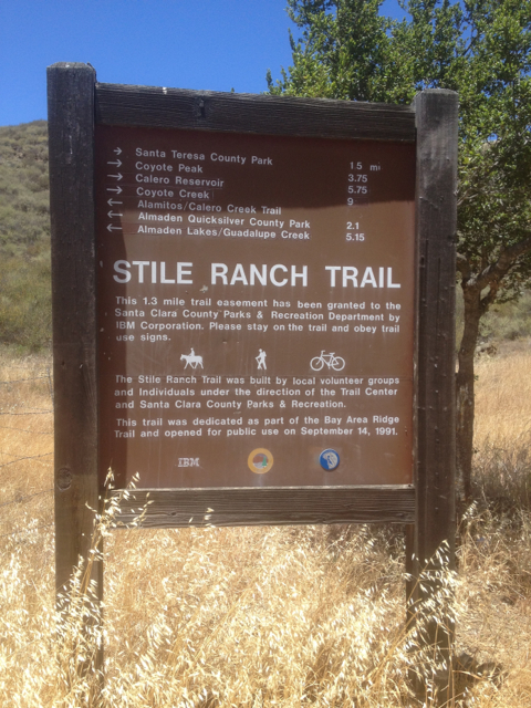 Trailhead Sign - IBM Easement