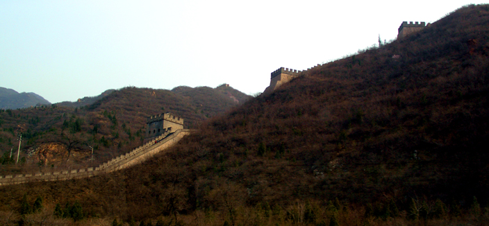 747 - first sight of great wall: