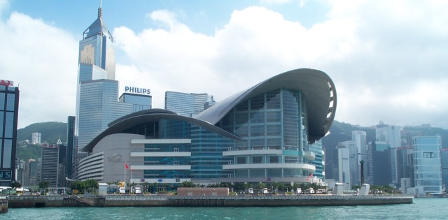 963 hkcec and hotel from ferry: