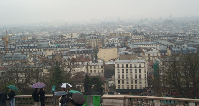 paris from sacre-coeur: