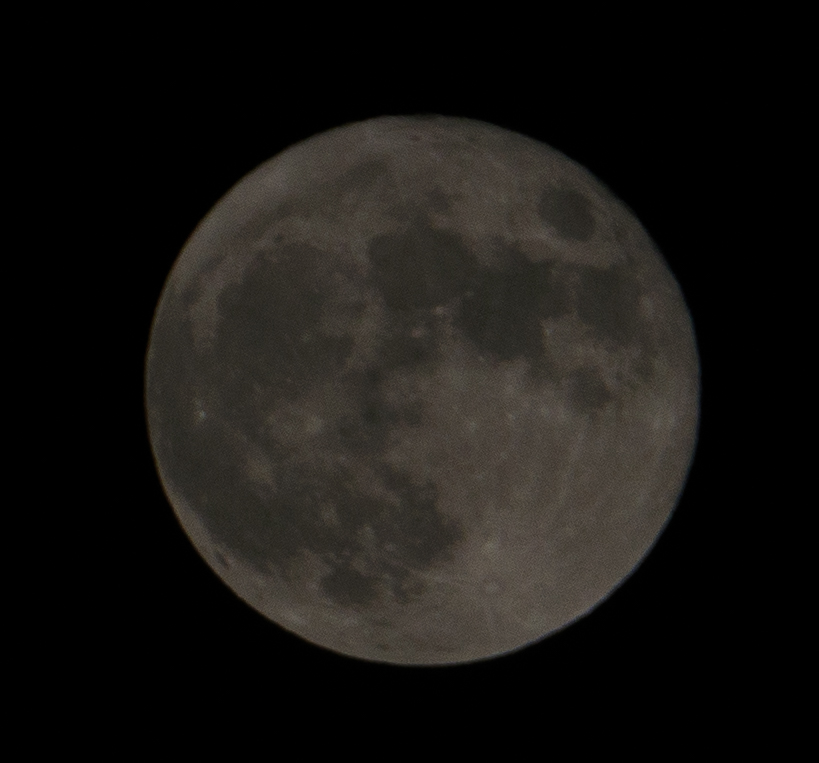 Moon at 1/2500 second